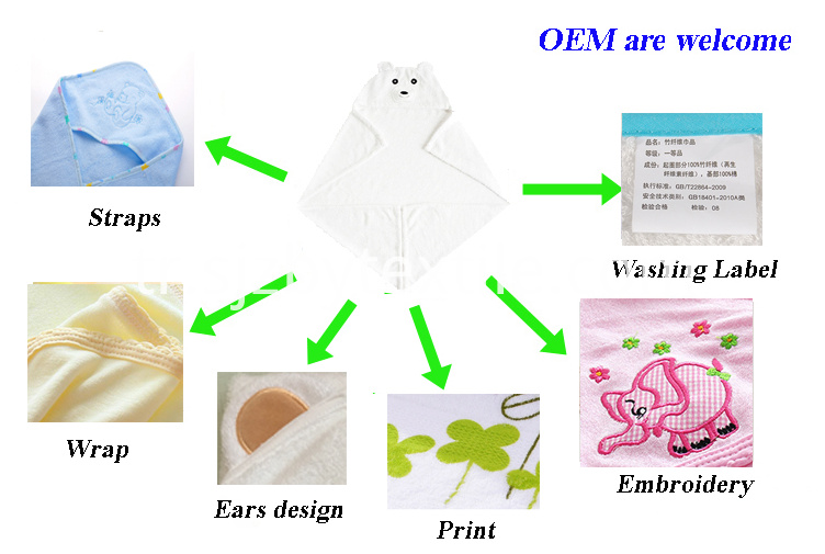 High Quality Baby Hooded Towel